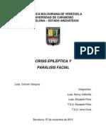 Crisis Epiléptica y Paralisis Facial