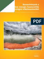 Szemelvények a geotermikus energia hasznosítás hidrogeológiai alkalmazásaiból