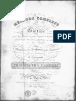 Ferdinando Carulli Opus 241 Methode Complete Pour La Guitare