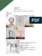 sculpture-linear contour wire
