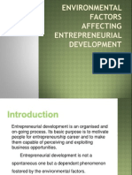 Environmental Factors Affecting Entrepreneurial Development
