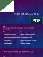 Tipos de Programas de Tv