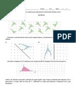 Ficha de Trabalho - Isometrias