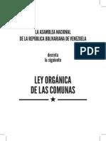 Ley Organica de Las Comunas