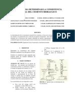 MÉTODO PARA DETERMINAR LA CONSISTENCIA NORMAL DEL CEMENTO HIDRAULICO
