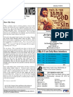 St. Augustine  Catholic Church, Sunday Bulletin, January 19, 2014