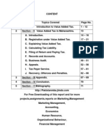 Project on Value Added Tax