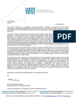 WFOT Statement - WHO Global Disability Action Plan