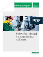 Beamex White Paper - How Often Should Instruments Be Calibrated