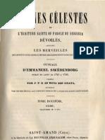 Em Swedenborg ARCANES CELESTES TomeDouzieme 2sur2 Exode XIII XV Numeros 8033 8386 LeBoysDesGuays 1848 91
