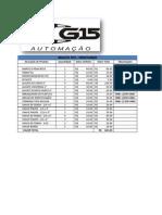 Planilha G15 - CONTROLE DE PATRIMÔNIo e PREÇOS
