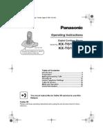 Panasonic Kxtg1100cx Operation Manual