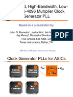 PLL 5ManeatisClockGeneratorLowJitter