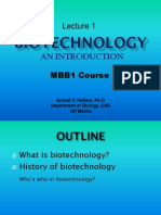 Lecture 1. Introduction to Biotechnology