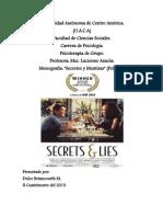 Análisis de la película -Secretos y Mentiras 18-08-13
