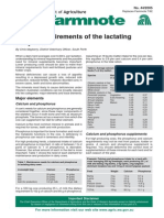 Mineral Requirements of the Lactating