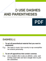 How to Use Dashes and Parentheses