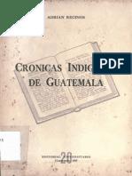 Cronicas indígenas de Guatemala