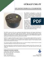 CMG-5T 3D accelerometer