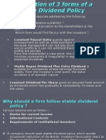 Stable Dividend