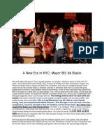 New York City and Mayor Bill de Blasio