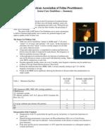 Feline Senior Care Guidelines Summary 2008 a Afp