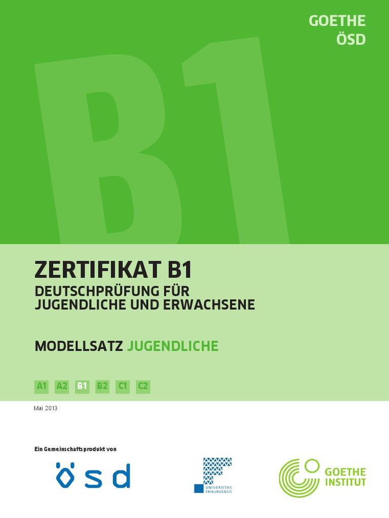 B1 Modellsatz Jugendliche Neu
