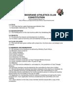 Suikerbosrand Athletics Club Constitution