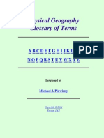 Physical Geography. Glossary of Terms