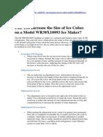 Ajuste de Nivel de Agua en Ice Maker