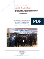 Rapport Formation UNILU 2013