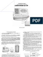 Manual de Utilizare Termostat Computherm q7rf