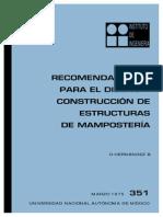 Recomendaciones Mamposteria UNAM