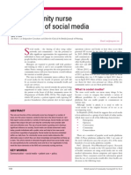 The Community Nurse and the Use of the Social Media
