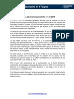 Economía en 1 Página. El final de la política de desendeudamiento - 21.01.2014