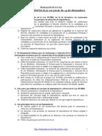 TEST Ley DEPENDENCIA - Trabajador Social