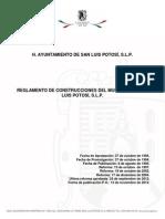 Reglamento de Construcciones Del Municipio Libre de San Luis Potosi