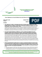 Alliance for Global Food Security Statemnet on Food Aid Reform 4-4-13