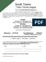 2009 Fall Junior Team Tennis League x PDF