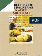 Abdolah, Kader - El Reflejo de Las Palabras