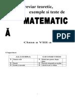 Breviar Teoretic Cl 8-Algebra