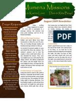 Love Newsletter 2009-08