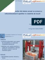 Consolidarea placilor de beton armat