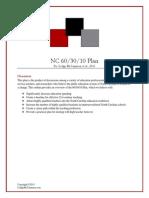 NC 60-30-10 Plan