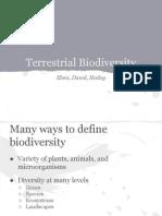 Terrestrial Biodiversity UNEP presentation