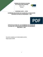 ECAES Mecánica Específicacion