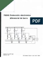 7SS10 Protección electrónica diferencial de barra Siemens