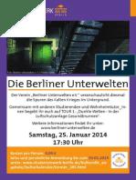 Plakat Unterwelten 2014.01.18.Neuaseddsf asd f asd fs df sd fasd f