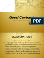 Law Quasi Contracts Final Ppt