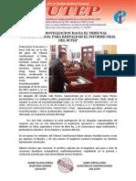 Exitosa movilización hacia el Tribunal Constitucional 21-01-2014